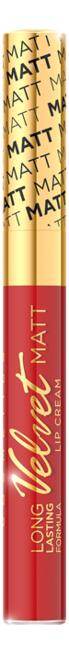 Жидкая матовая губная помада Velvet Matt Lip Cream 9мл: No 414 губная помада lip color 5г red matt