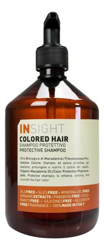 Шампунь для волос с экстрактом хны и маслом манго Colored Hair Protective Shampoo: Шампунь 400мл