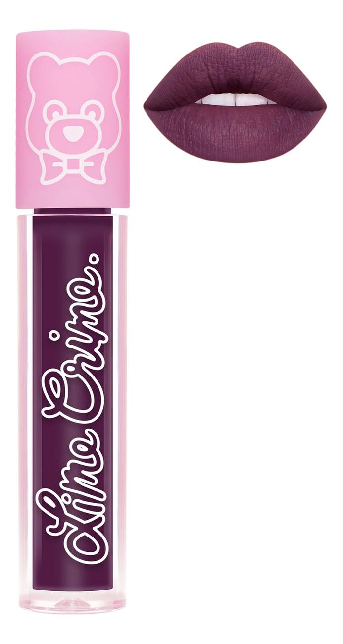Суперлегкая матовая помада для губ Plushies 3,5мл: Grape Jelly lime crime помада для губ lime crime plushies glow суперлегкая оттенок popsicle