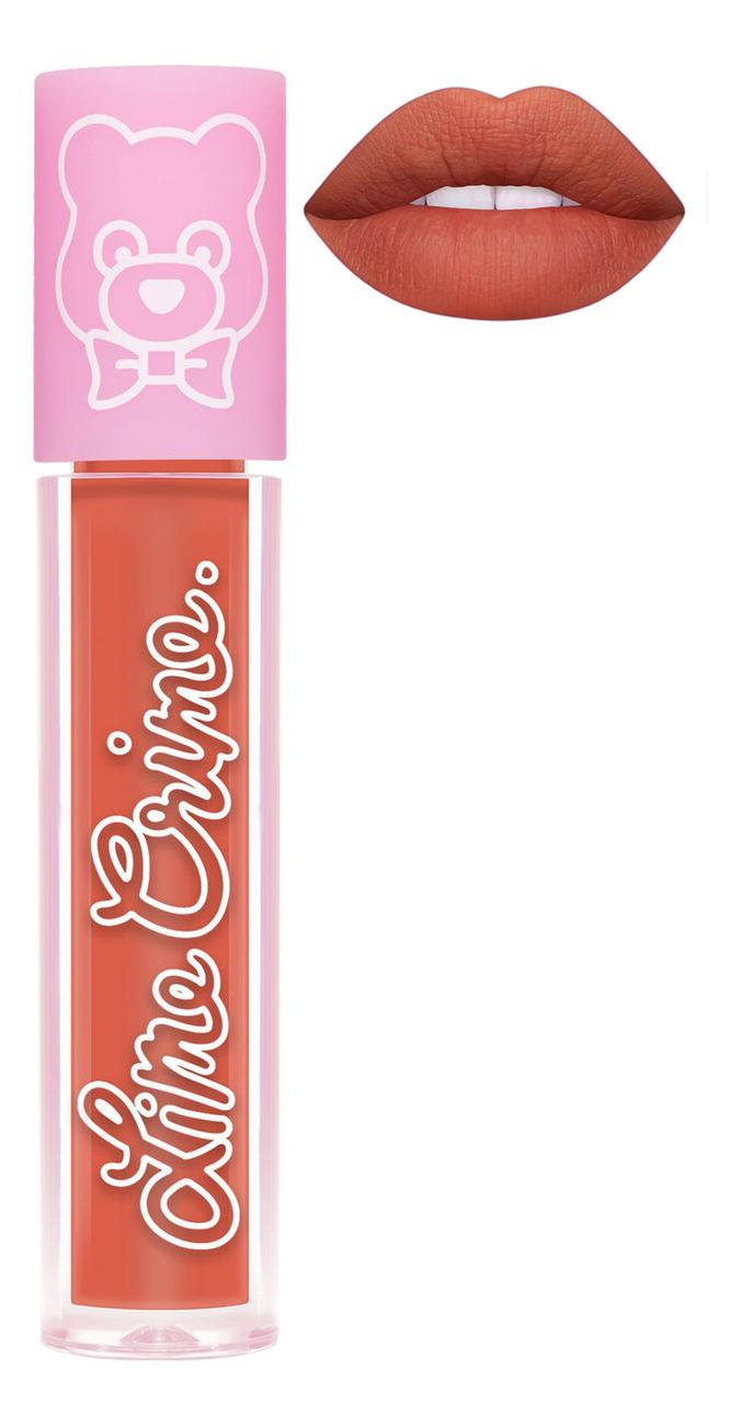 Суперлегкая матовая помада для губ Plushies 3,5мл: Marmalade lime crime помада для губ lime crime plushies glow суперлегкая оттенок popsicle