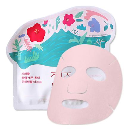 Тканевая маска для лица Jeju Camellia Flower Anti-Wrinkle Mask Pack 21г
