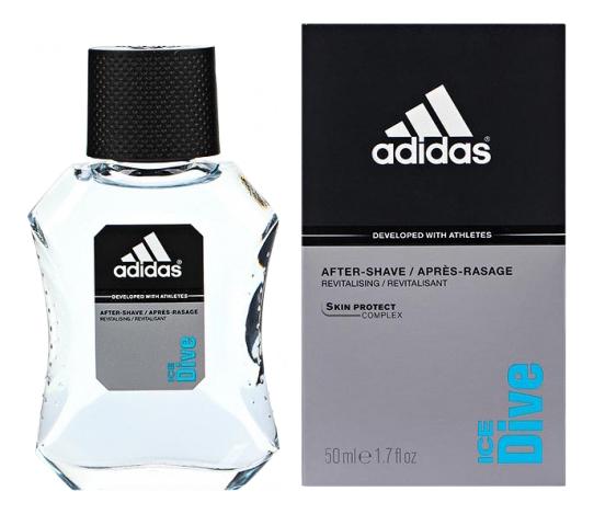 Adidas Ice Dive: лосьон после бритья 50мл adidas ice dive туалетная вода для мужчин 100мл
