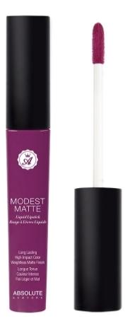 Матовая помада для губ Modest Matte 5мл: MML05 Bare absolute new york жидкая губная помада матовая modest matte 11 оттенков 8 гр modest matte