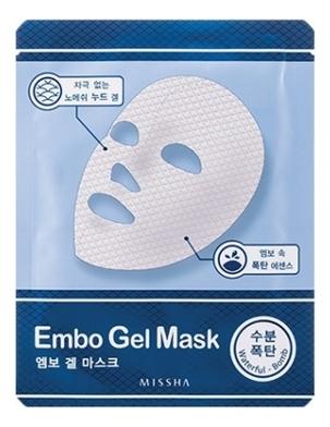 Тканевая увлажняющая маска для лица Embo Gel Mask Waterful Bomb 30г belif aqua bomb ночная увлажняющая маска для лица aqua bomb ночная увлажняющая маска для лица
