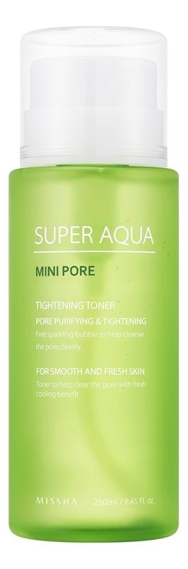 Тоник для сужения пор Super Aqua Mini Pore Tightening Toner 250мл