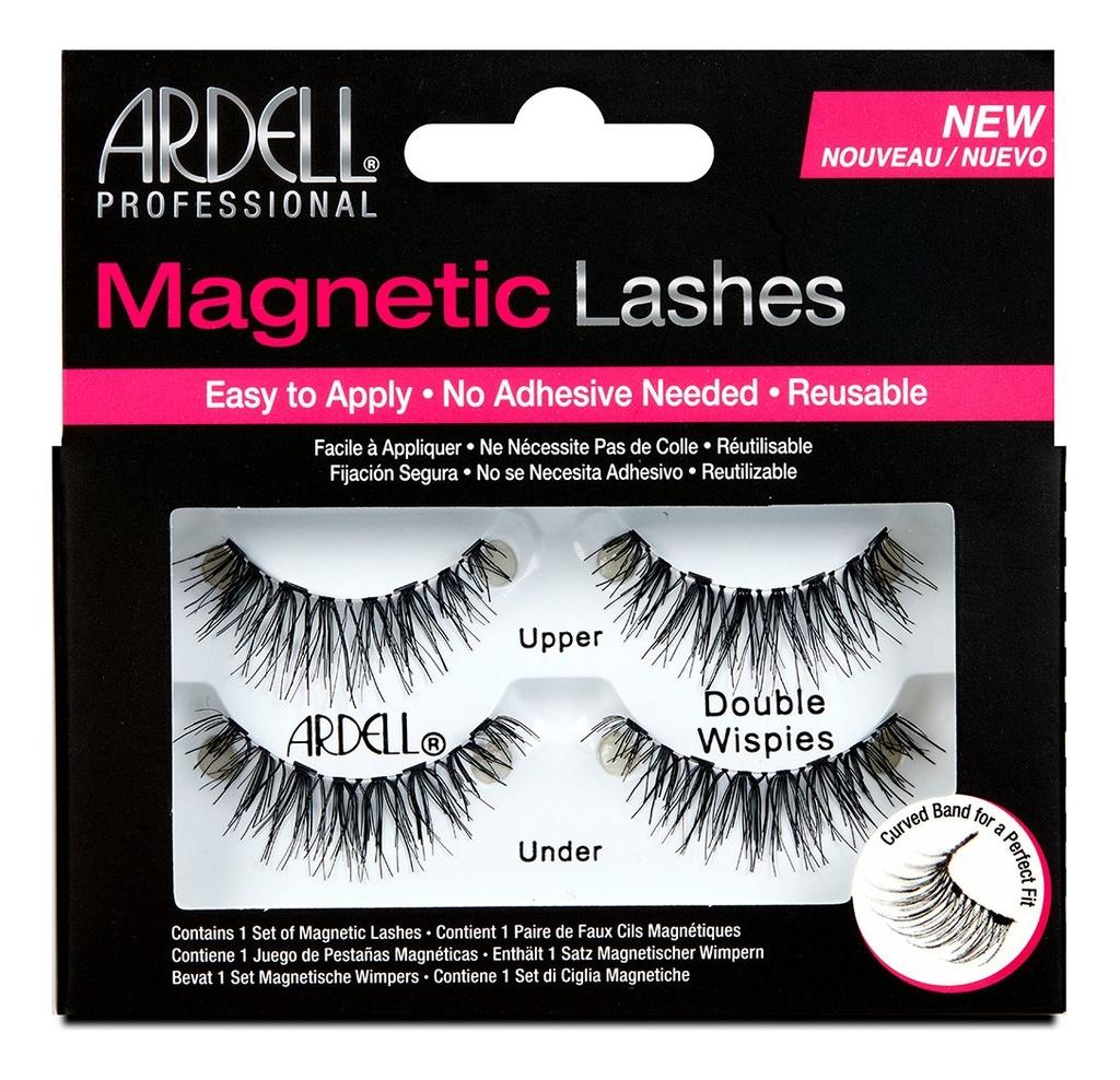 Магнитные накладные ресницы Magnetic Strip Lash: Double Wispies ardell магнитные накладные ресницы magnetic lashes double wispies черный