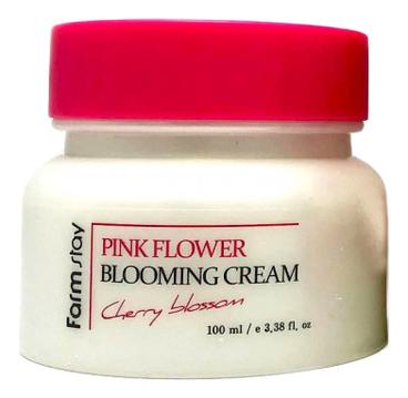 Крем для лица с экстрактом цветов вишни Pink Flower Blooming Cream Cherry Blossom 100мл