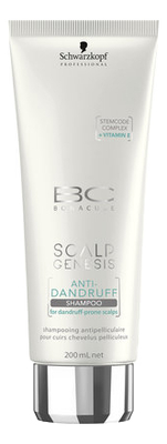 Шампунь против перхоти BC Scalp Genesis Anti-Dandruff Shampoo: Шампунь 200мл интенсивный успокаивающий шампунь против перхоти psoriane intensive shampoo soothing against flaky scalp 125мл