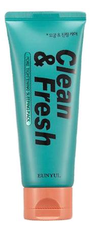 Ночная маска для сужения пор Clean & Fresh Pore Tightening Sleeping Pack 120мл eunyul маска очищающая для сужения пор pore tightening radiance pack 100 мл