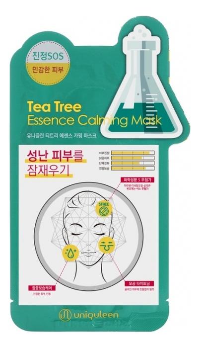 Тканевая маска для лица с экстрактом чайного дерева Uniquleen Tea Tree Essence Calming Mask 26г успокаивающий тонер для лица ac collection calming liquid intensive 125мл