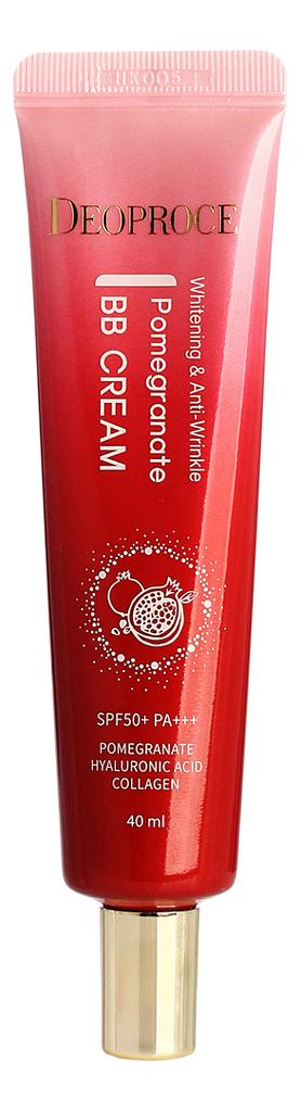BB крем для лица с экстрактом граната осветляющий Whitening & Anti-Wrinkle Pomegranate Cream SPF50+ PA+++ 40мл осветляющий cc крем для лица crystal whitening cream spf50 pa 50мл natural beige