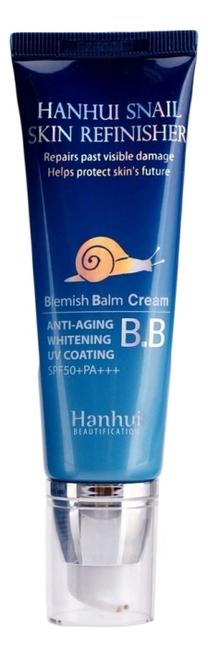 BB крем для лица с муцином улитки Hanhui Snail Skin Refinisher Cream SPF50+ PA+++ 50мл крем для лица madecassoside blue tone up cream spf50 pa 50мл
