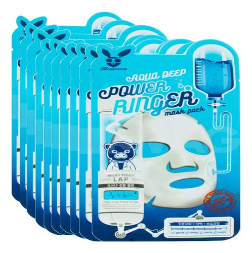 Тканевая маска для лица увлажняющая Aqua Deep Power Ringer Mask Pack: Маска 10*23мл guerlain super aqua mask увлажняющая маска super aqua mask увлажняющая маска