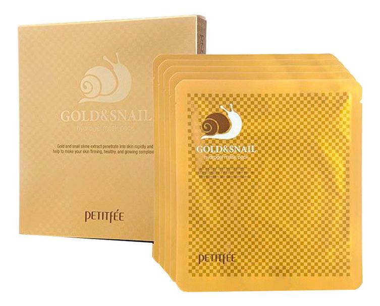 Гидрогелевая маска для лица с золотом и муцином улитки Gold & Snail Hydrogel Mask Pack: Маска 5*30г гидрогелевая маска золото и экстракт улитки