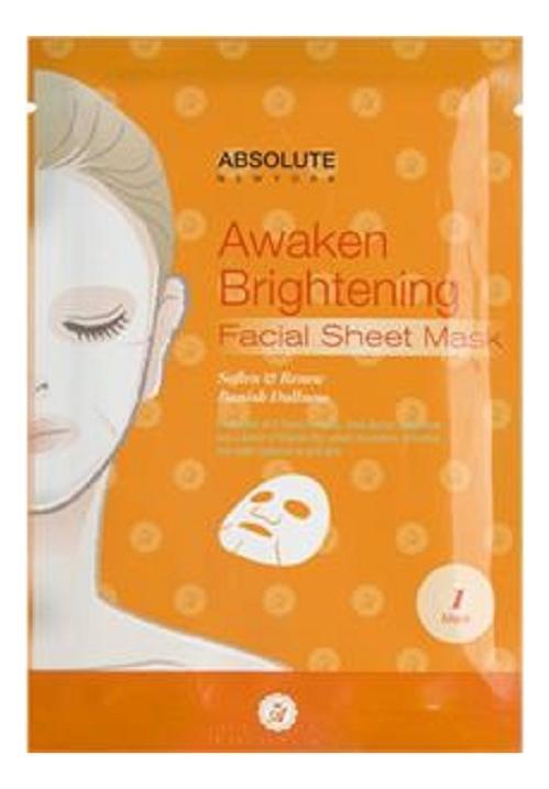 Осветляющая тканевая маска для лица Absolute Awaken Brightening Facial Sheet Mask: Маска 1шт