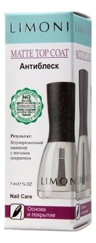 Основа и покрытие для ногтей Антиблеск Matte Top Coat 7мл верхнее матовое покрытие для ногтей nail wear matte topcoat 7мл