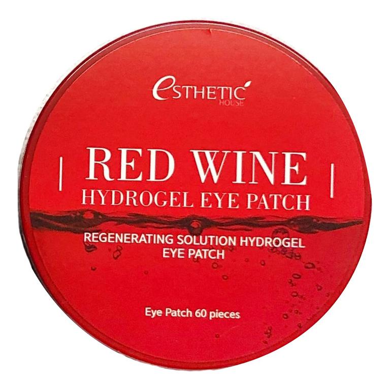 Гидрогелевые патчи для кожи вокруг глаз с экстрактом красного вина Red Wine Hydrogel Eye Patch 60шт esthetic house патчи для кожи вокруг глаз aloe vera
