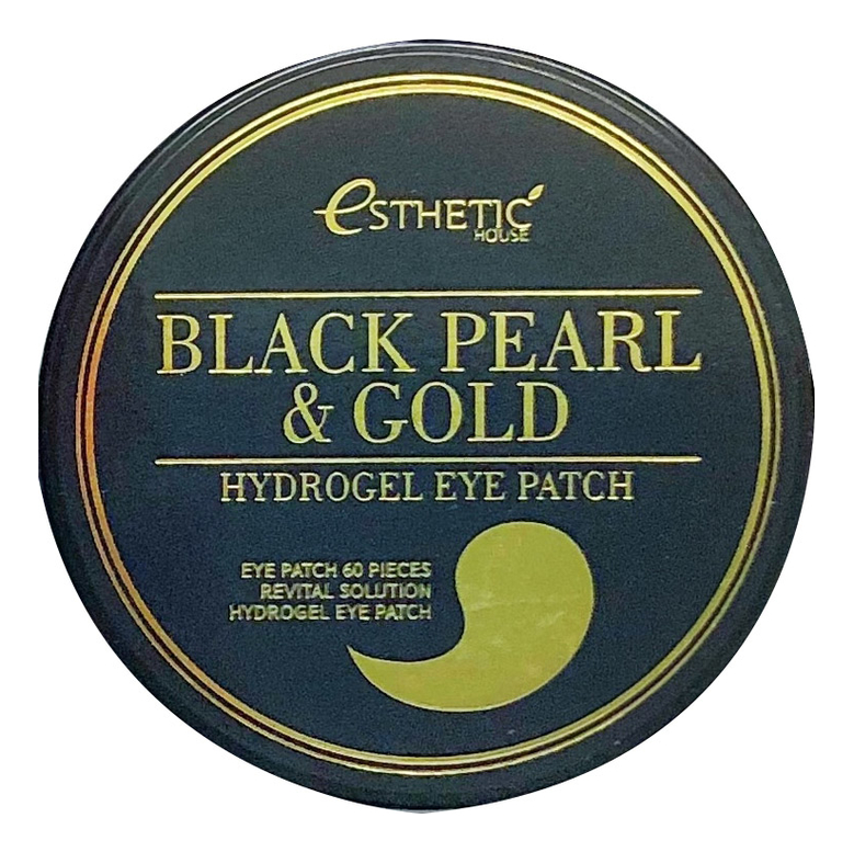 Гидрогелевые патчи для кожи вокруг глаз с экстрактом черного жемчуга и золота Black Pearl & Gold Hydrogel Eye Patch 60шт esthetic house патчи для кожи вокруг глаз aloe vera