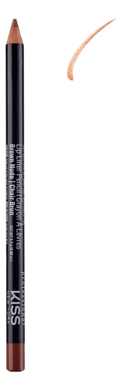 Контурный карандаш для губ Lip Liner Pencil 1,1г: Brown Nude senna lip liner smooth lip pencil pure nude карандаш для губ 1 08 г