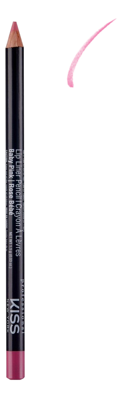 Контурный карандаш для губ Lip Liner Pencil 1,1г: Baby Pink джинсы kiss pink kiss pink ki011ewaton0