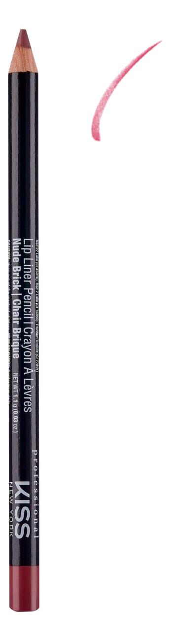 Контурный карандаш для губ Lip Liner Pencil 1,1г: Nude Brick senna lip liner smooth lip pencil pure nude карандаш для губ 1 08 г