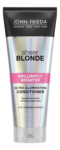 Кондиционер для придания блеска светлым волосам Sheer Blonde Brilliantly Brighter Conditioner 250мл conditioners john frieda jjf511220 air conditioner for hair care enhancement and nutrition vitamins
