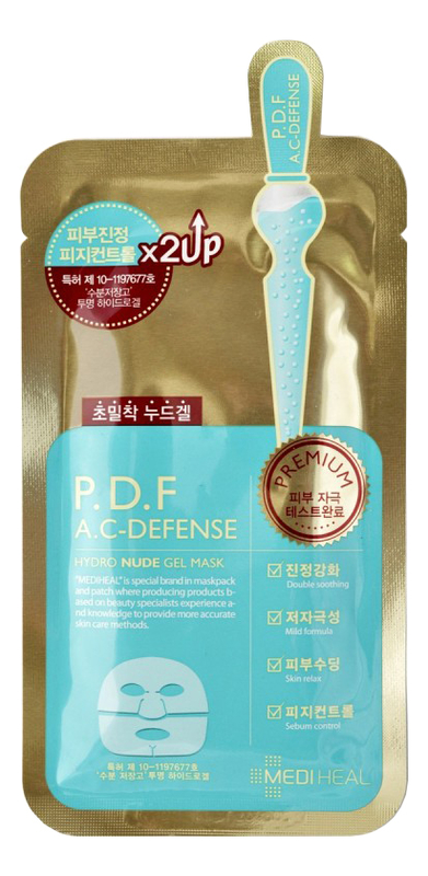 Фото - Маска для проблемной кожи лица P.D.F A.C-Defense Hydro Nude Gel Mask 30г beauty clinic mediheal d na proatin mask протеиновая увлажняющая маска для лица 25 мл