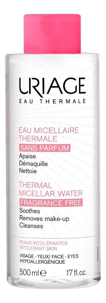 Очищающая мицеллярная вода без ароматизаторов Eau Thermale Micellaire: Мицеллярная вода 500мл урьяж мицеллярная вода очищающая для кожи склонной к покраснению 250 мл uriage гигиена uriage