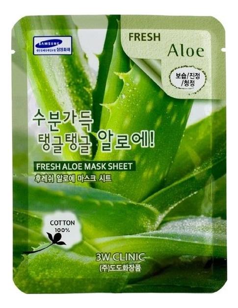 Тканевая маска для лица с экстрактом алоэ вера Fresh Aloe Mask Sheet: Маска 23г phyto therapy mask тканевая маска с алоэ противовоспалительная sheet aloe polyphenol moisturizing