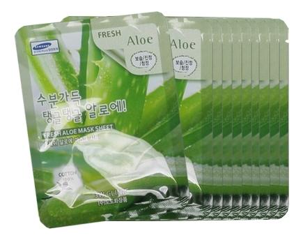 Тканевая маска для лица с экстрактом алоэ вера Fresh Aloe Mask Sheet: Маска 10*23г