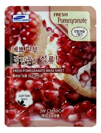 Фото - Тканевая маска для лица с экстрактом граната Fresh Pomegranate Mask Sheet: Маска 23г beauty clinic mediheal d na proatin mask протеиновая увлажняющая маска для лица 25 мл