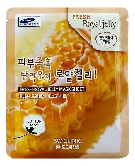 Тканевая маска для лица с медом и маточным молочком Fresh Royal Jelly Mask Sheet: Маска 23г
