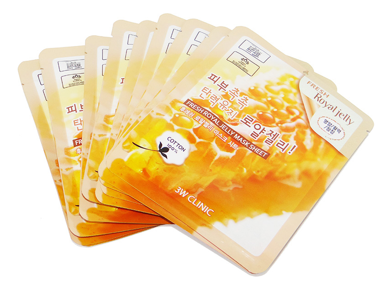 Тканевая маска для лица с медом и маточным молочком Fresh Royal Jelly Mask Sheet: Маска 10*23г