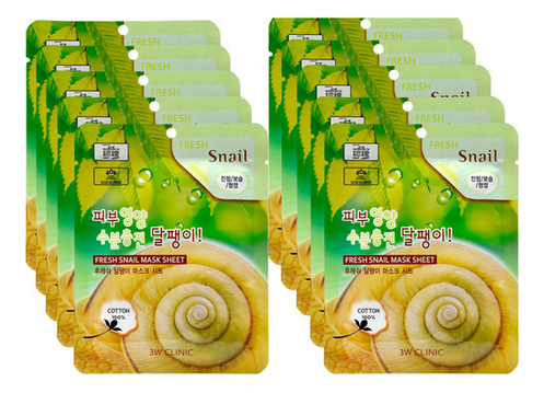 Тканевая маска для лица с секретом улитки Fresh Snail Mask Sheet: Маска 10*23г