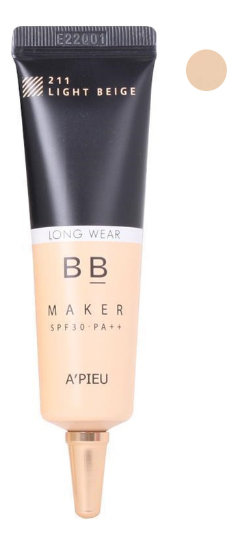 BB крем легкий увлажняющий Maker Long Wear SPF30 PA++ 20г: 211 Light Beige bb крем увлажняющий maker moisture spf30 pa 20г 212 natural beige
