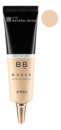 BB крем увлажняющий Maker Moisture SPF30 PA++ 20г: 211 Light Beige bb крем увлажняющий maker moisture spf30 pa 20г 212 natural beige