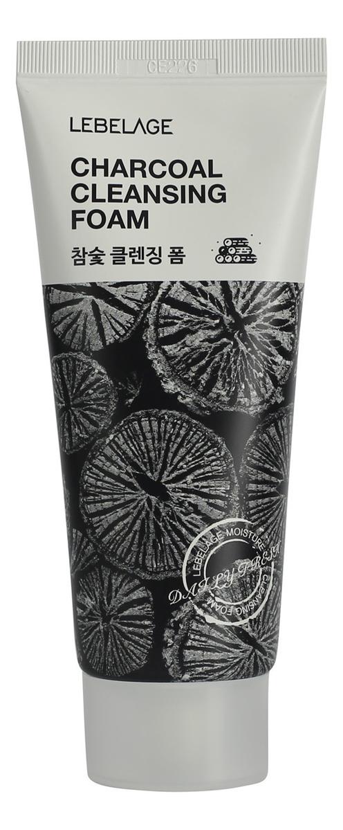 Пенка для умывания с древесным углем Charcoal Cleansing Foam 100мл lebelage пенка для умывания с углем charcoal cleansing foam 100 мл