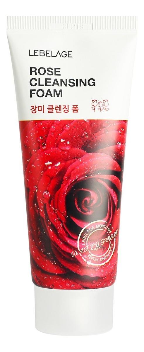 Пенка для умывания с экстрактом розы Rose Cleansing Foam 100мл lebelage пенка для умывания с углем charcoal cleansing foam 100 мл