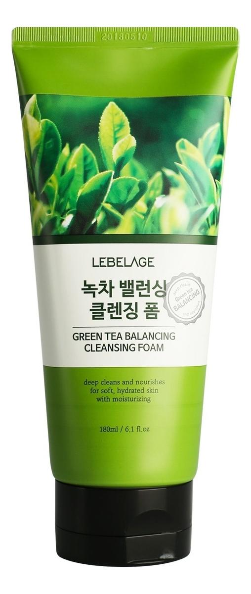 Пенка для умывания с экстрактом зеленого чая Green Tea Balancing Cleansing Foam 180мл очищающая пенка для лица с экстрактом зеленого чая natural cleansing foam green tea 100мл
