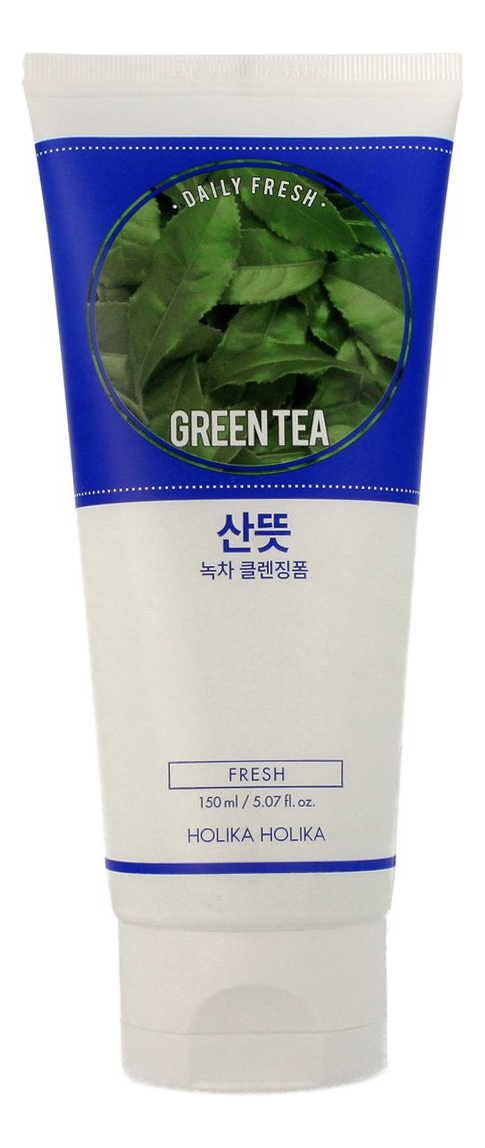 Очищающая пенка для лица Daily Fresh Green Tea Cleansing Foam 150мл fresh line 3 in 1 lavender cleansing foam