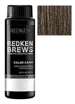 Краска-камуфляж для волос Brews Color Camo 5 Minute Custom Gray 60мл: 4NA