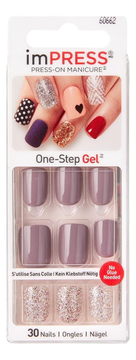 Накладные ногти Поздняя осень Broadway Impress Press-On Manicure BIPD300 30шт (короткая длина)