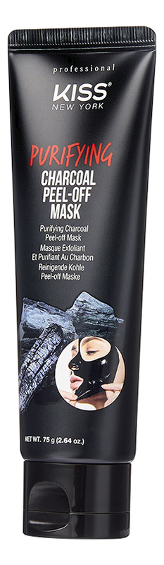 Очищающая маска-пленка с древесным углем Purifying Charcoal Peel-Off Mask 75г high quality black head remove shrink pores natural bamboo charcoal mask blackhead purifying peel off black face mask
