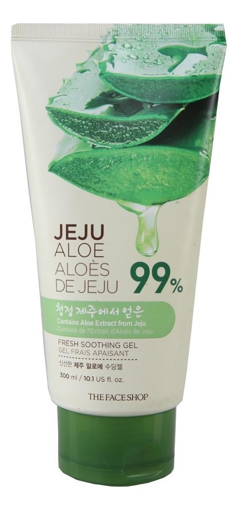 Гель универсальный Jeju Aloe 99% Fresh Soothing Gel: Гель 300мл (тюбик) the face shop jeju volcanic lava aloe nose strip объем 7 шт