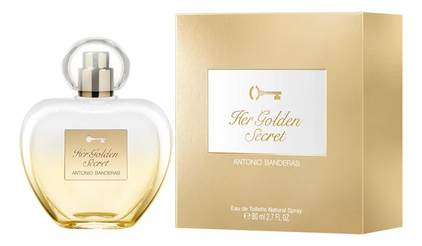 Antonio Banderas Her Golden Secret: туалетная вода 80мл (новый дизайн) antonio banderas her secret desire eau de toilette