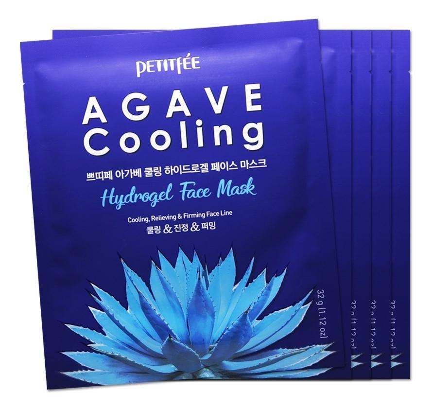 Охлаждающая гидрогелевая маска с экстрактом агавы Agave Cooling Hydrogel Face Mask: Маска 5*32г