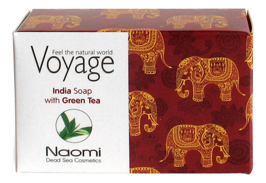 Мыло для лица и тела Voyage India Soap With Green Tea 140г мыло для лица волос и тела voyage moroccan soap with argan oil 140г