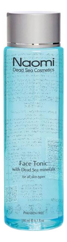 Тоник для лица с минералами Мертвого моря Face Tonic With Dead Sea Minerals 180мл мыло против акне с минералами мертвого моря acne soap with dead sea minerals 125г