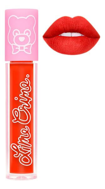 Суперлегкая матовая помада для губ Plushies 3,5мл: Sorbet lime crime помада для губ lime crime plushies glow суперлегкая оттенок popsicle