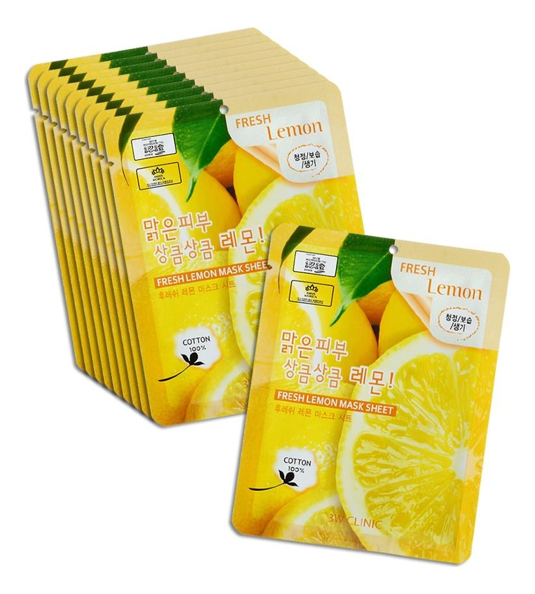 Тканевая маска для лица с экстрактом лимона Fresh Lemon Mask Sheet: Маска 10*23г